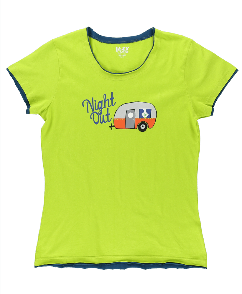 Night Out -  Women's Fitted PJ T-shirt - LazyOne®